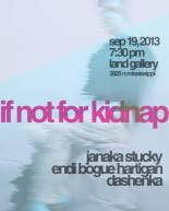 if not for kidnap janaka stucky endi bogue hartigan portland poetry reading